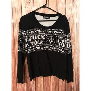 92d79a79c86bd6 Sourpuss Sweaters | Fuck You Xmas Sweater Type Size Xl | Poshmark